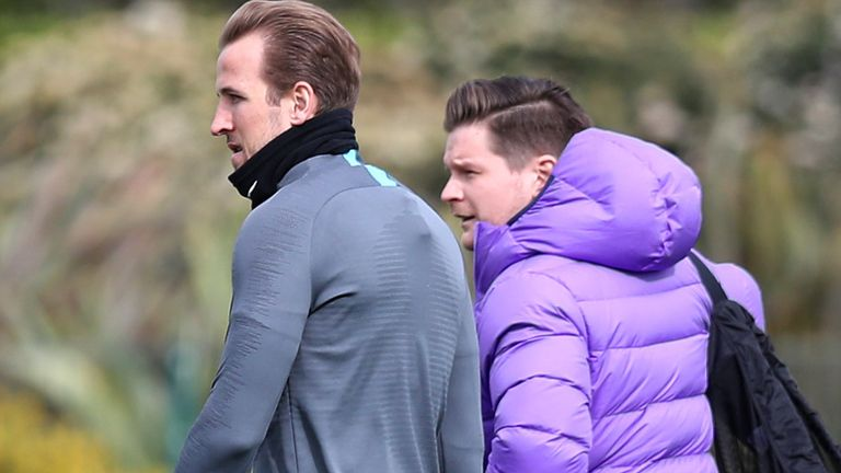 Kane was put through his paces at Tottenham's training ground in Enfield