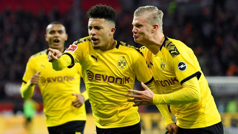 Jadon Sancho and Erling Haaland are amongst the Borussia Dortmund players taking a pay cut during the coronavirus pandemic