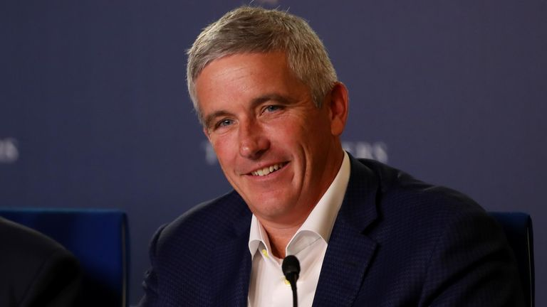 PGA Tour commissioner Jay Monahan has said the first four events back will be behind closed doors