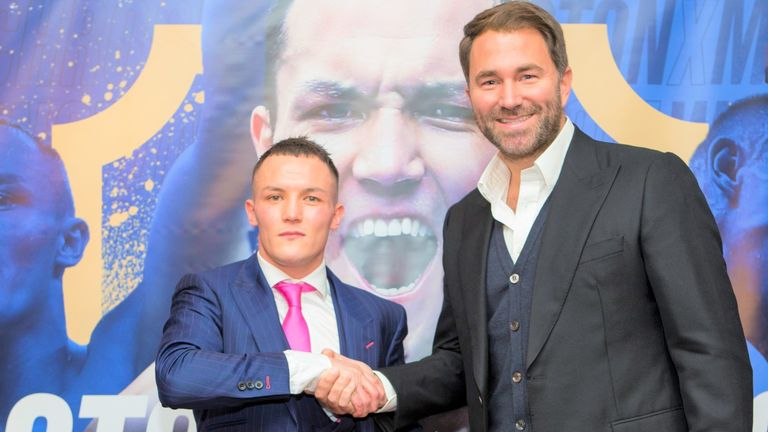 Promoter Eddie Hearn has been planning Warrington's next fight
