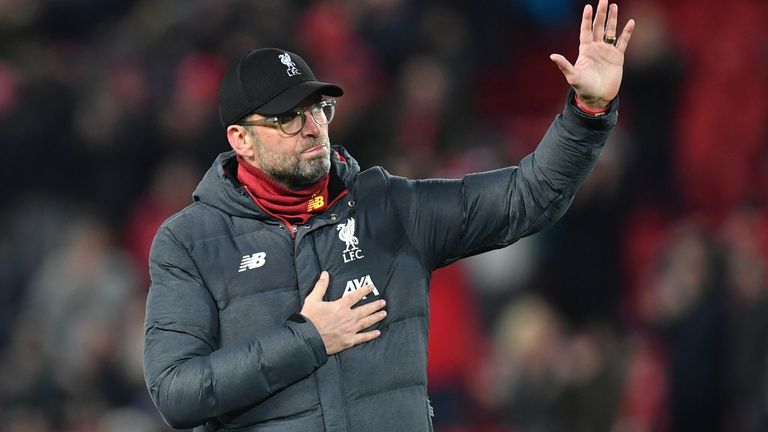 Jurgen Klopp's Liverpool are just two wins away from the Premier League title
