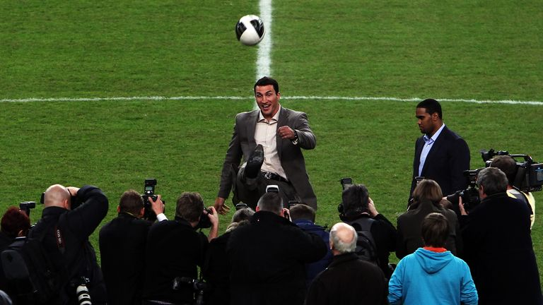Klitschko was popular enough to headline at German football stadia