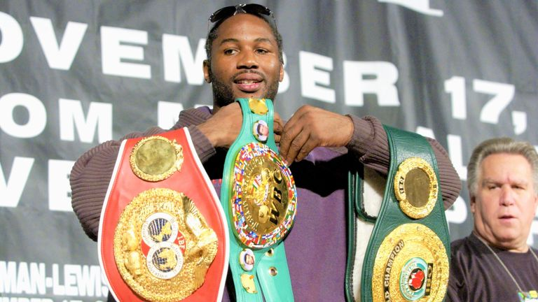 Lennox Lewis regained his world titles after rematch win over Hasim Rahman
