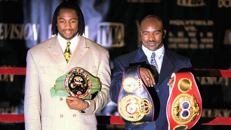 Lennox Lewis battled Evander Holyfield to become undisputed champion