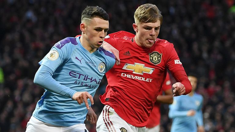 Manchester United's 2-0 win over Manchester City on March 8 was the last Premier League match either side played before football was suspended
