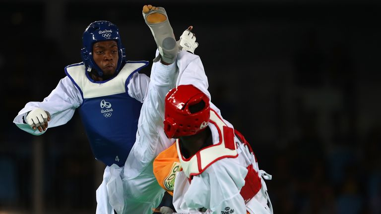 Muhammad lost out to Cheick Sallah Cisse of the Ivory Coast in the Men's Taekwondo -80kg final in Rio