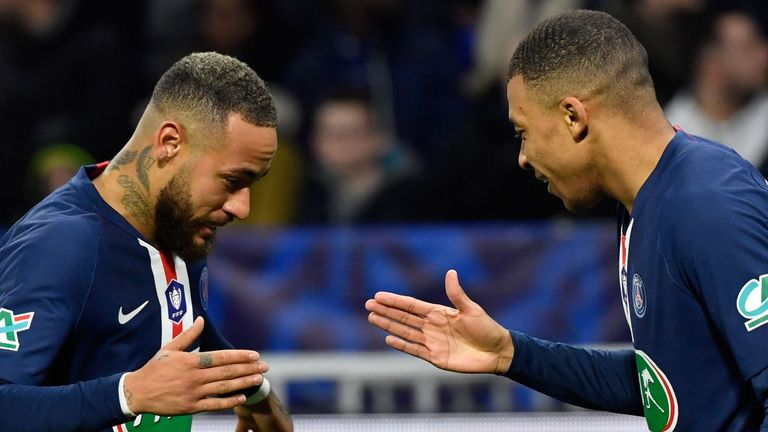 PSG's Neymar and Kylian Mbappe combined superbly throughout