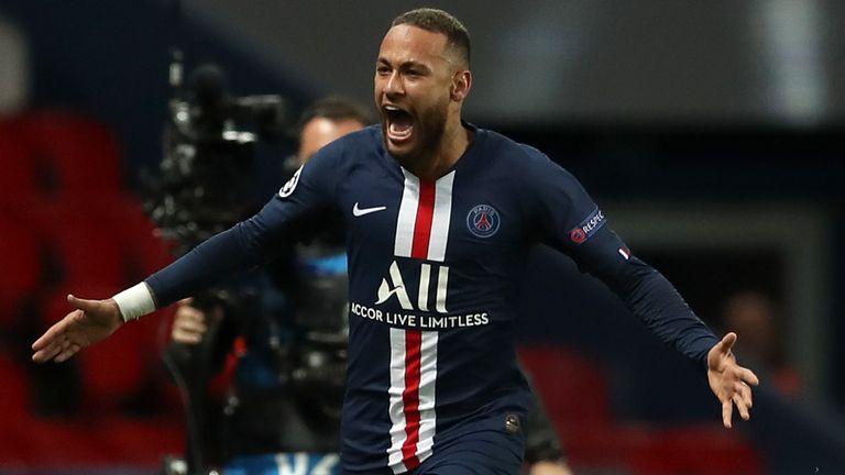 Neymar starred as Paris Saint-Germain reached the Champions League last eight