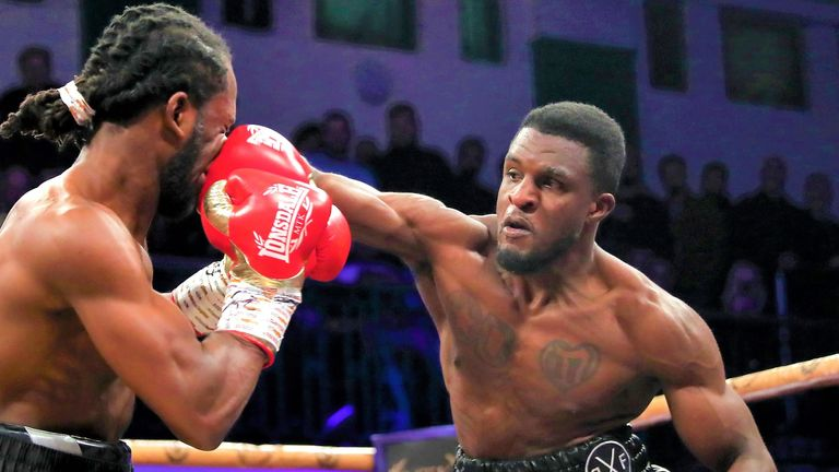 Davies displayed his power as he stopped Ofori in the semis