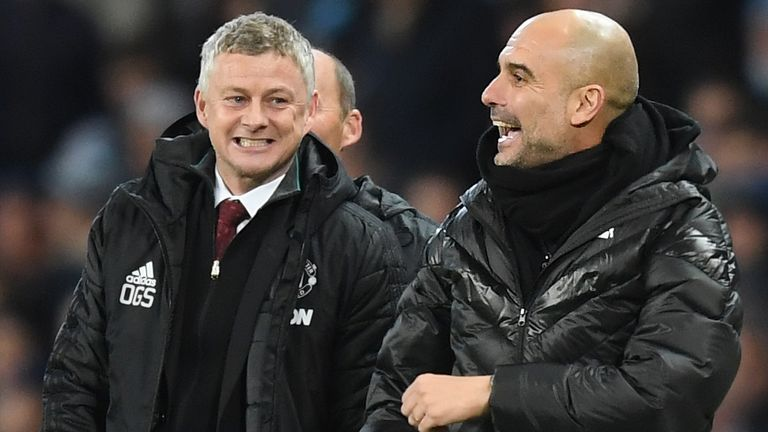 Guardiola has won 50 per cent of the Manchester derbies he has been involved in