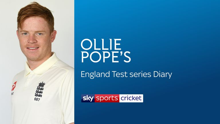 England batsman Ollie Pope will be blogging for Sky Sports during the Test tour of Sri Lanka