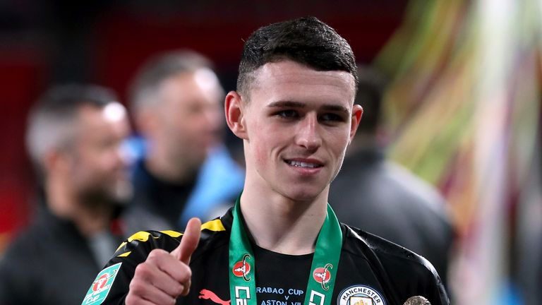 Manchester City's Phil Foden was named man of the match in the Carabao Cup Final