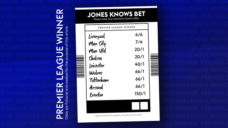 Jones Knows prices up the Premier League winner market - who would you back?