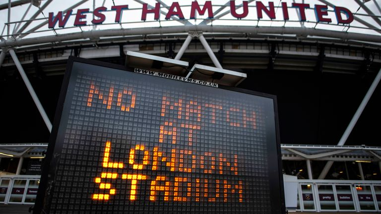 Matches in the Premier League are currently on hold until early next month