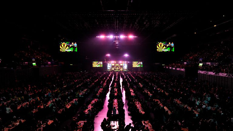 The Premier League Darts roadshow tournament continues to be affected by the pandemic