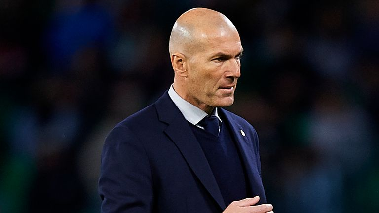 Zinedine Zidane has two years left on his contract at Real Madrid