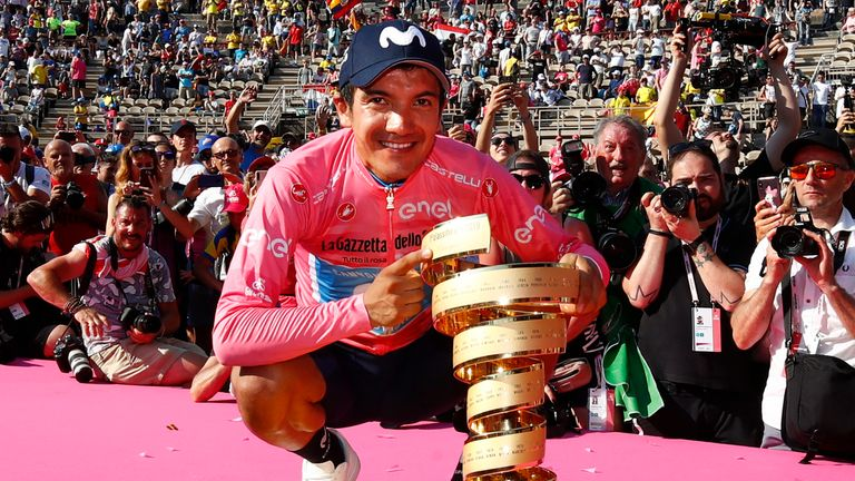 Richard Carapaz was the overall winner of the Giro d'Italia last year