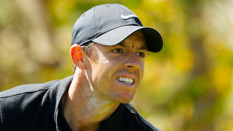 Rory McIlroy is two shots off the lead heading into the final day