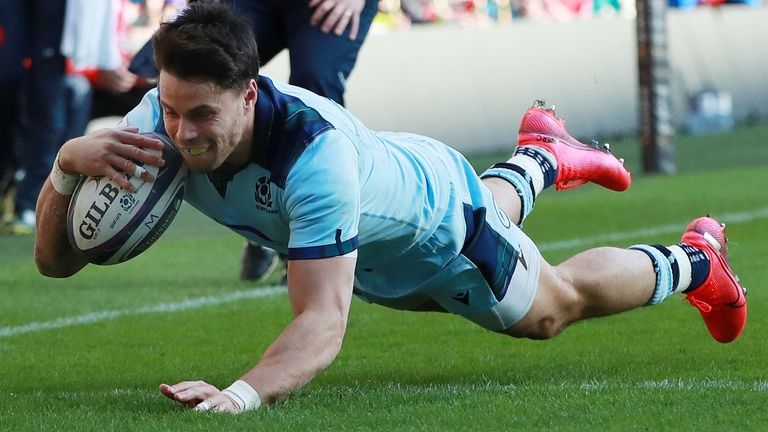 Sean Maitland scored Scotland's second try of the afternoon