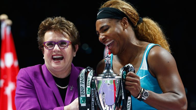 Serena Williams (right) was among the founding investors