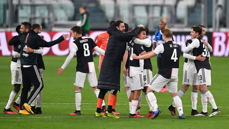 Juventus are on course for a ninth straight title but there are no guarantees the season will be concluded