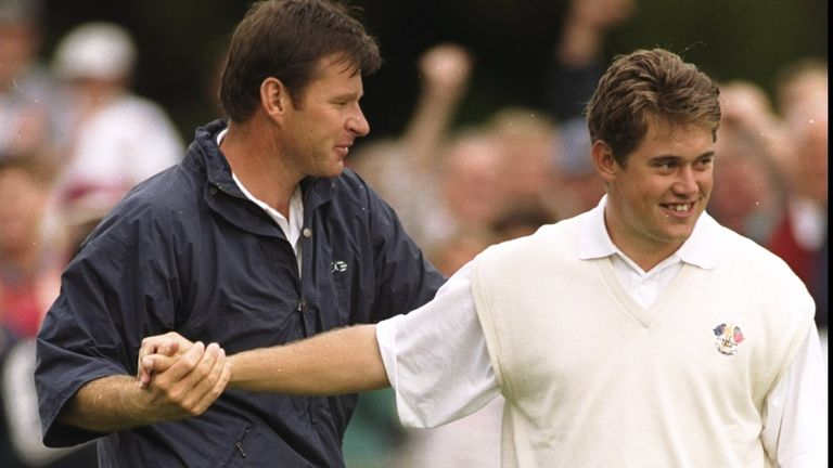 Westwood won the first of his 23 Ryder Cup points alongside Nick Faldo in 1997
