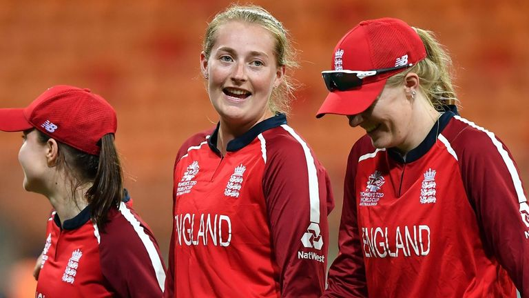 Sophie Ecclestone could lead England into a new era of spin with Mady Villiers (L) and Sarah Glenn (R)