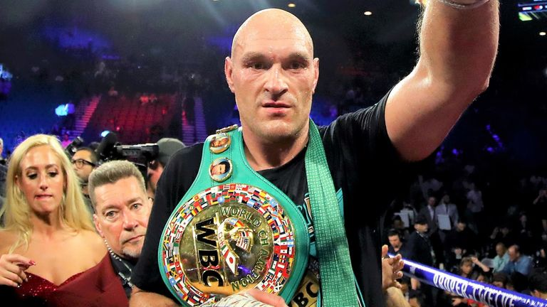 Tyson Fury defeated Wilder to claim the WBC belt last month