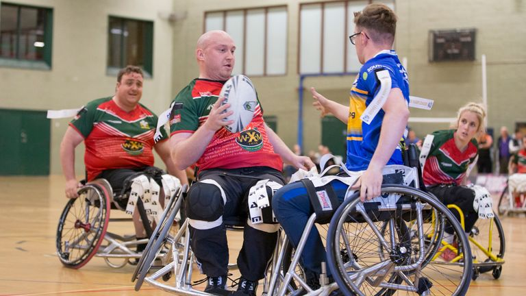 Wheelchair rugby league will feature alongside the men's and women's World Cups next year