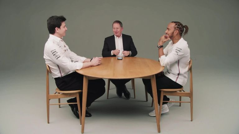 The full extended interview with Mercedes' title-winning duo Lewis Hamilton and Toto Wolff as they talk Martin Brundle through the secrets of their partnership