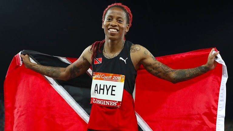 Michelle-Lee Ahye won gold for Trinidad and Tobago in the 100m at the 2018 Commonwealth Games in Gold Coast