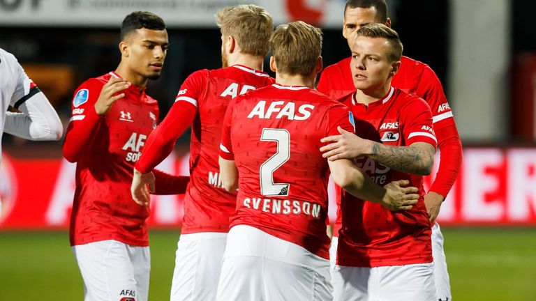 AZ Alkmaar are level on points with Eredivisie leaders Ajax