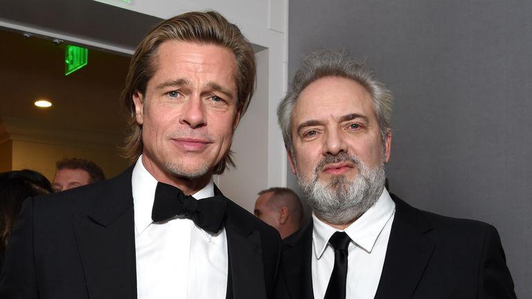 Brad Pitt joins Sam at the 77th Annual Golden Globe Awards in Beverly Hills, California