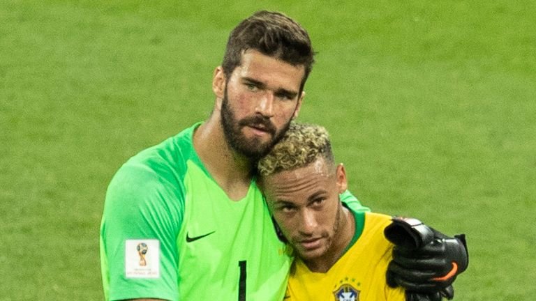 Brazil duo Neymar and Alisson are just two of the country's internationals to pledge to the coronavirus fund