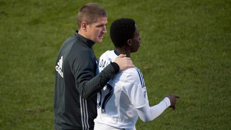 Head coach Carl Robinson nurtured Davies' progression at the Vancouver Whitecaps, his first professional team
