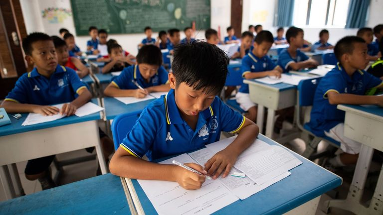 Youngsters learn English in Guangzhou R&F's in-house education facility