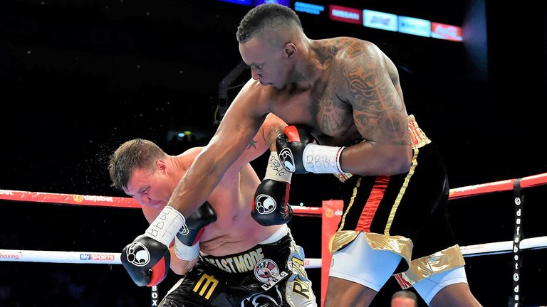 Whyte worsened his shoulder injury in a victory over Brian Minto