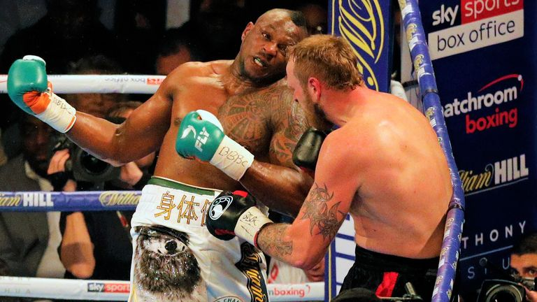 Dillian Whyte inflicted a unanimous decision defeat on Helenius in October 2017