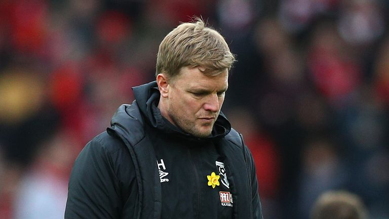 Eddie Howe has taken a voluntary pay cut at Bournemouth to help the club cope with the financial hit of coronavirus