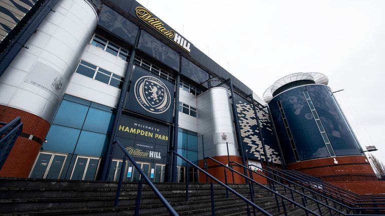 Clarke is hopeful a small number of fans will attend Hampden Park