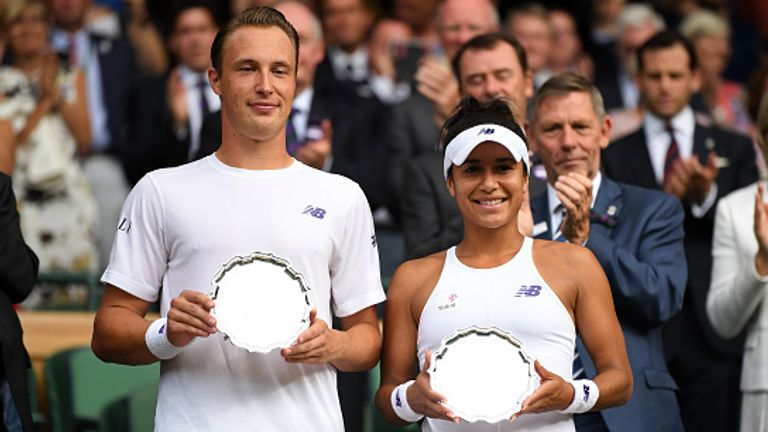 Watson won the Wimbledon mixed doubles title with Henri Kontinen in 2016