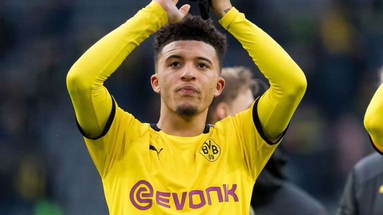 Jadon Sancho has been linked with Manchester United and Real Madrid