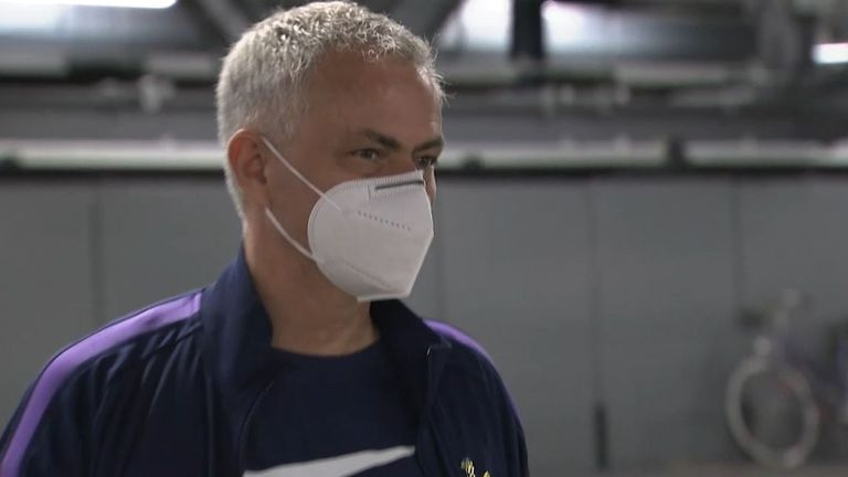 Jose Mourinho tells Sky Sports News that Tottenham's re-purposing of their stadium into a hospital has been 'emotional'