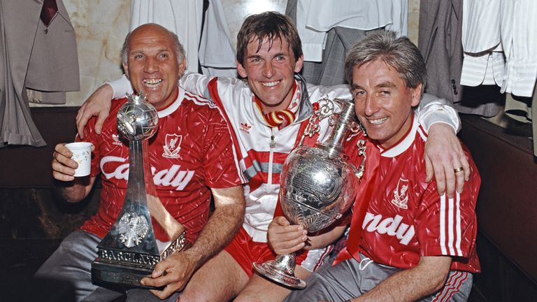 Sir Kenny Dalglish (C), with the help of assistants Ronnie Moran (R) and Roy Evans, were the masterminds behind Liverpool's last league title win
