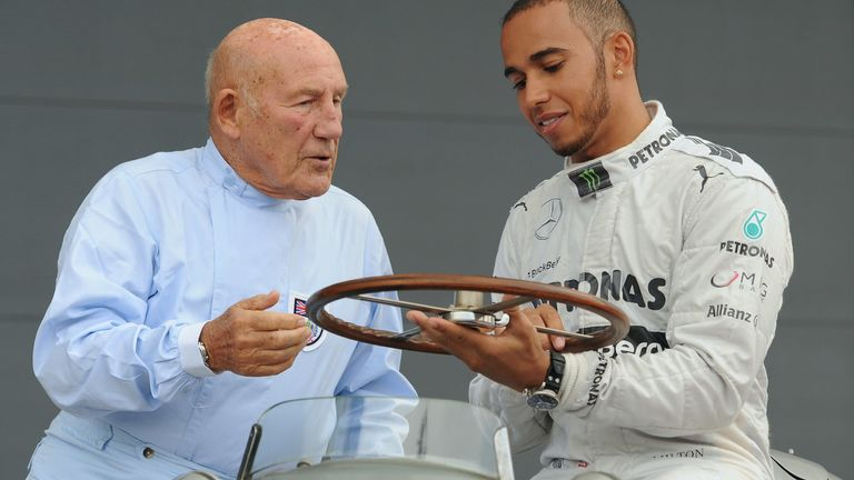 """Lewis Hamilton says he """"clicked"""" with Sir Stirling Moss as they struck up a great friendship"""