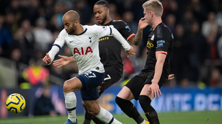 Lucas Moura forms part of a six-man attacking unit at Mourinho's disposal