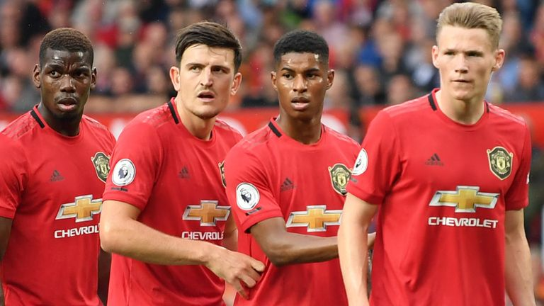 Manchester United's squad have been training individually while in self-isolation during the coronavirus lockdown