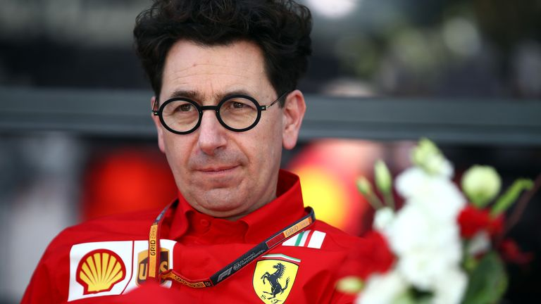 Mattia Binotto has been Ferrari's F1 team principal since January 2019