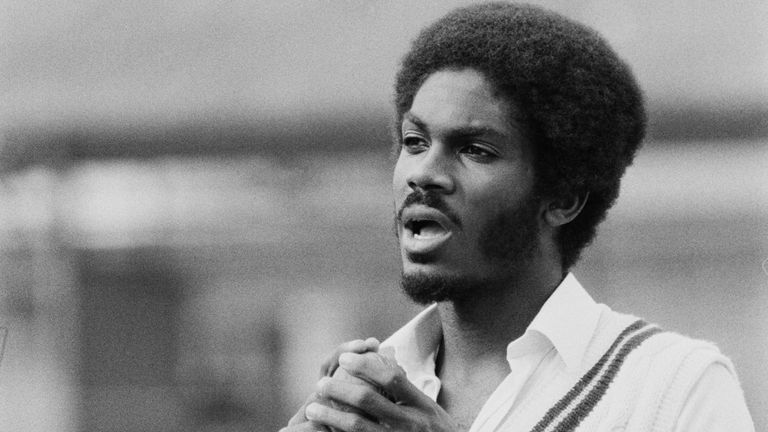 Michael during West Indies' tour of England in 1976