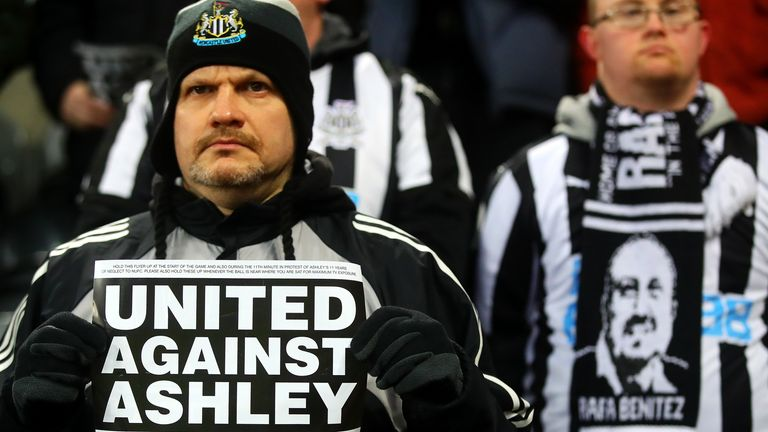 Some Newcastle fans have voiced their disapproval of Ashley's tenure for years